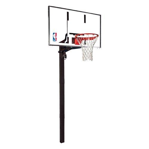 Huffy 88454g Spalding 54in Glass Backboard Inground Basketball System